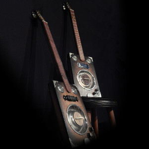 deluxe and pro cigar box guitars